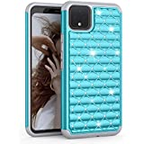 TILL for Google Pixel 4 XL Case, 4XL Cover, (TM) Studded Rhinestone Crystal Bling Diamond Sparkly Luxury Shock Absorbing Hybrid Dual Layer Rugged Defender Cute Glitter Girls Case Cover [Turquoise]