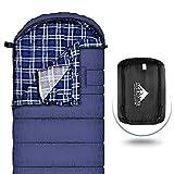Agemore Sac de couchage en flanelle de coton pour adultes, 230 x 89 cm, imperméable, idéal pour les voyages, le camping, la randonnée et les activités de plein air avec sac de compression XL 3 kg.