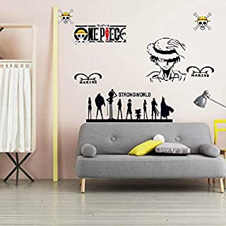 ملصقات جدارية من الفينيل بتصميم رسوم متحركة لوفي قطعة واحدة من ملصقات الحائط لتزيين المنزل