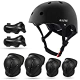 G4Free Kids Bike Skateboard Helmet Pads Set Knee Elbow Pads Wrist Guards for 3-8 Years Boys Girls Protective Gear Sets Roller Skating, Cycling, Scooter