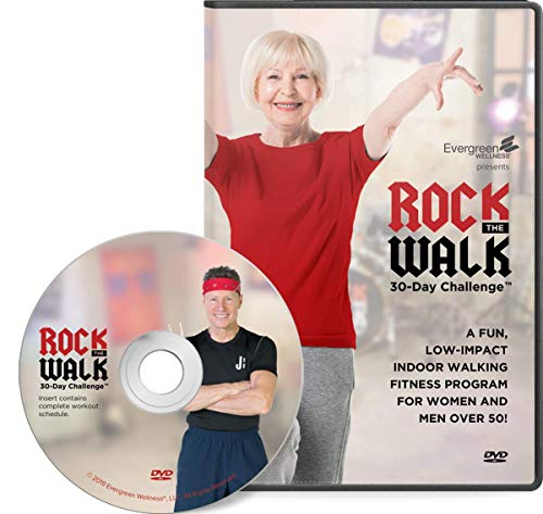 Rock The Walk 30-Day Workout Challenge DVD for Beginners and Seniors - The Low Impact, Indoor Walking Exercise Program