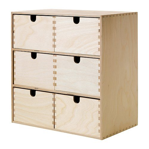 IKEA MOPPE - Mini chest of drawers, birch plywood - 31x18x32 cm by Ikea