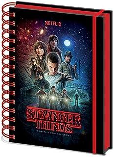 Stranger Things – Cuaderno de notas con espiral A5, multic
