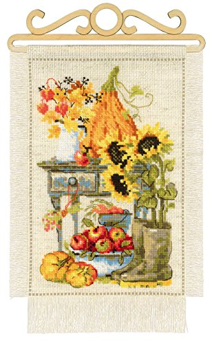 RIOLIS 1508 Cherry Blossom Beige AIDA 15 Colors Counted Cross Stitch Kit 9/½ x 11/¾ Zweigart 14 ct