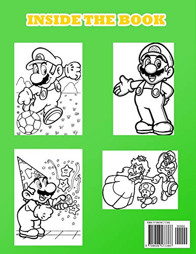 SUPER MARIO COLOURING BOOK: Cool Colouring Pages SUPER MARIO for Boys ans Girls - new and latest high quality and premium pages