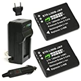 Wasabi Power DB-110 Battery (2-Pack) and Charger for Ricoh GR III, GR IIIx,...
