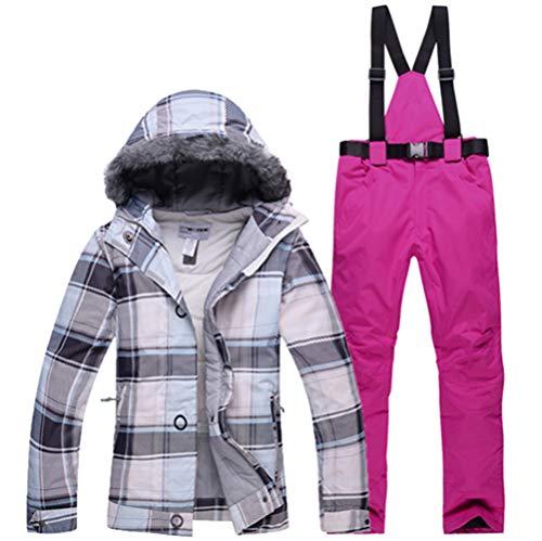 AZUOYI Dames Ski Jas Pant Skibroek Voor Vrouwen Waterdicht Winddicht Outdoor Vrouwelijke Winter Camping Snowboarden Pak Jas (2 stuks)