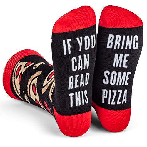Lavley - Mens Novelty Socks - Funny Novelty Dress Socks For Men and Women (Pizza)