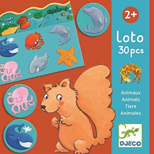 Djeco- Juegos de Mesa Educativos Loto Animales, Multicolor (DJ08120)