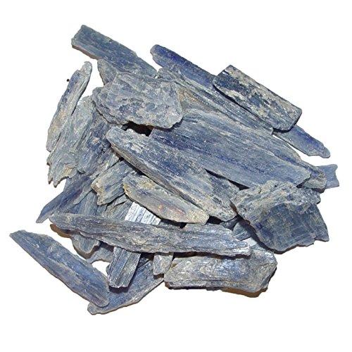 50 Gramm Disthen blau Kyanit Rohsteine Rohstücke Wassersteine ca. 15 -30 mm (4856)
