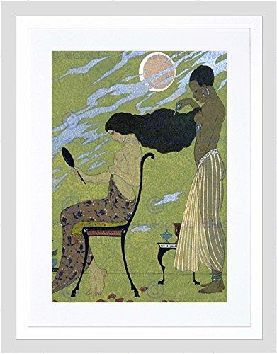 Wee Blue Coo Schilderij Illustrator Franse Barbier Haar Dressoir Omlijst Muur Art Print