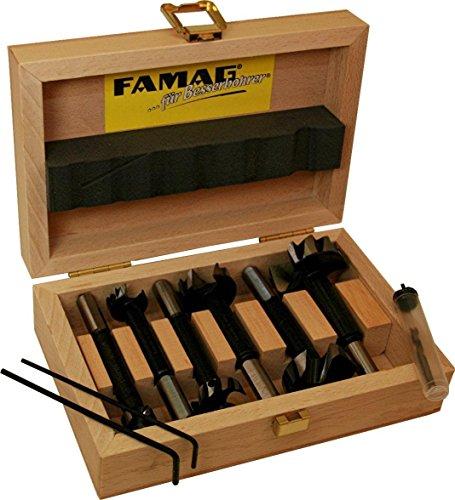 FAMAG Bormax 2.0 prima Staketenbohrersatz 5-teilig WS D=15,20,25,30,35mm im Holzkasten