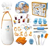 The Sneaky Chef Kids Cooking/Baking Set 37 Piece BPA Free, Child-Safe Essential Junior Ute...