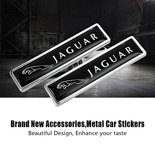 ZheQR 2 Stück für Jaguar F-Pace F-Typ E-Pace E-Typ X-Typ S-Typ XJ XJL XJS XJ6 XK XF XE Fender Side Car Logo Aufkleber Aufkleber außen
