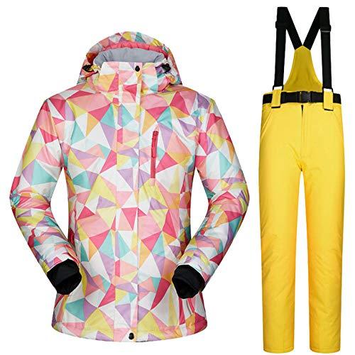 MEOBHI ski pak vrouwen ski jas en broek winter outdoor sneeuw jas vrouwen snowboard ski jas vrouwelijke ski pak winddicht waterdicht ademend