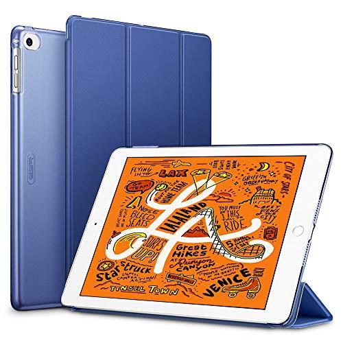 ESR Capa para iPad mini 5 2019, capa inteligente com três dobras, capa leve para descanso/despertador automático, capa dura com capa traseira inteligente, azul
