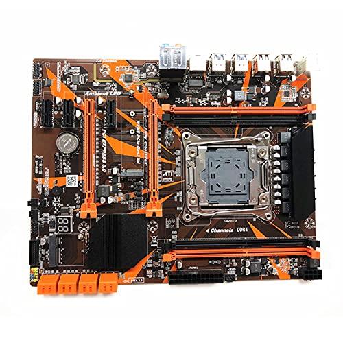 BoBoLily Paquete de la tarjeta madre,Placas base,X99 ATX 4 DDR4 PCI Express 16X 12 puertos USB 64GB SATA III PC Motherboard