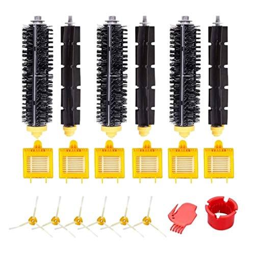 Recambios para aspiradoras Irobot 750 760 765 770 774 775 776 782 785 786 790 Compatible con Roomba 780 Accesorios Reabastecimiento Set Filtro Cepillo lateral Roll (Color: Negro) (Color: Negro)