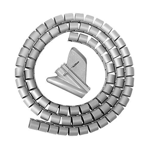 XFentech 1.5 Metros Organizador de cables - Espiral Flexible Manguito de gestión...