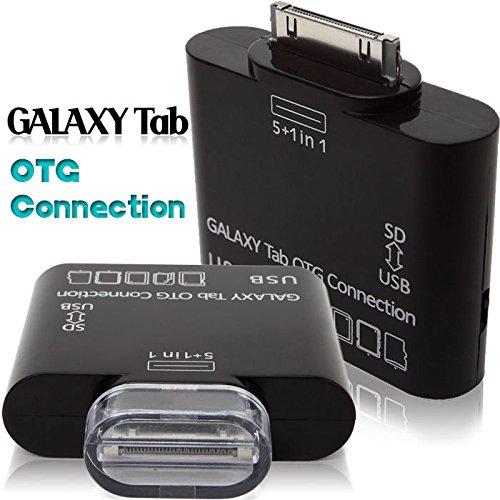 REALMAX® 5 in 1 SD-kaartlezer Adapter voor Samsung Galaxy Tab 2 Camera Connection Kit USB-hub OTG