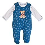 Salt & Pepper Baby-Jungen BG Playsuit Allover Strampler, Blau (Blue Melange 455), 68