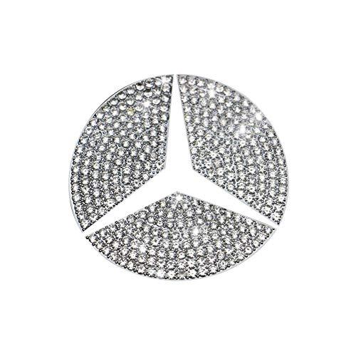 Pursuestar Lenkrad Bling Kristall Emblem Kappe Glänzend Zubehör Innen Aufkleber für Mercedes Benz 2019 2020 A B Klasse 2020 GLB GLA CLA