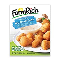 Farm Rich Breaded Mushrooms Restaurant Style Whole White Button Mushrooms in a Crispy Coating, Froze