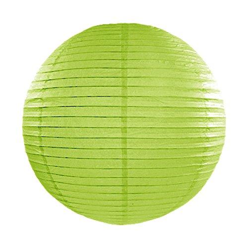 Simplydeko Lampion | Papierlaterne | Papier-Laterne | Papierlampion für Party, Garten & Hochzeit | Apfel-Grün | 20 cm