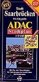 ADAC StadtPlan Saarbrücken mit Spezialfaltung, GPS-genau (ADAC Stadtplan spezialgefaltet)