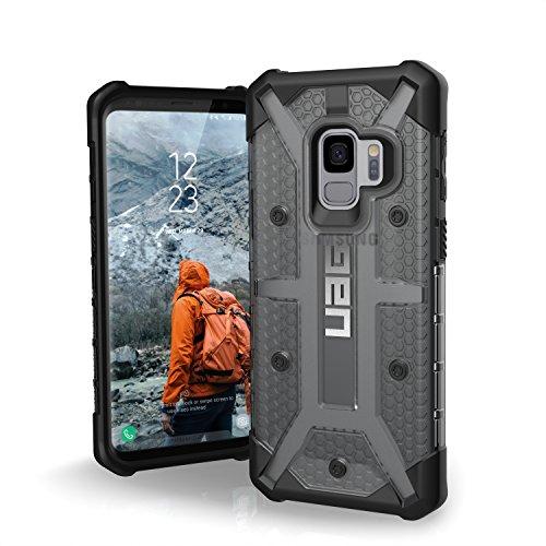 Urban Armor Gear Plasma Schutzhülle nach US-Militärstandard für Samsung Galaxy S9 - transparent (dunkel) [Verstärkte Ecken I Sturzfest I Antistatisch I Vergrößerte Tasten] - GLXS9-L-AS