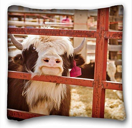 décoratifs carré Couvre-lit Taie d'oreiller animaux Vache nuages Field 45,7 x 45,7 cm deux côté, Soie, Motif 9, European