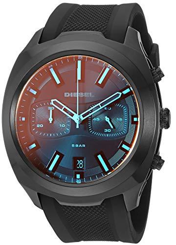 Diesel Herren Chronograph Quarz Uhr mit Silikon Armband DZ4493