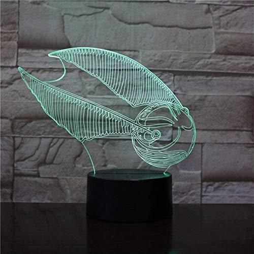 Luz de la noche Exquisita luz de noche colorida en 3D Exquisita novela de moda LED linterna mágica lámpara de fútbol 7 colores USB negro base niños pareja dormitorio familiar