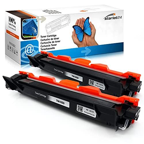 2x Toner ersetzt TN1050 für Brother DCP-1510 1512 1601 1610 1612 1616 | MFC-1810 1815 1910 1911 | HL-1110 1112 1201 1210 1211 1212