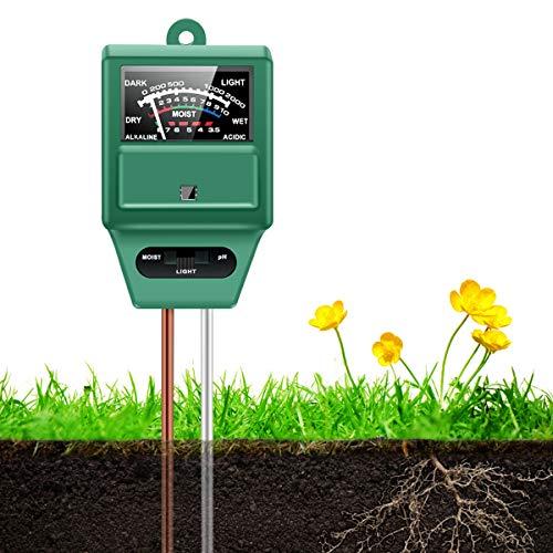 HAYI Soil pH Meter, 3-in-1 Soil Moi…