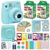 Fuji Instax Mini 9 Instant Camera ICE Blue w/Case + Fuji Instax Film Value Pack (40...