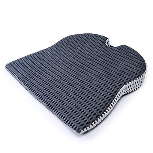 Wigschuimzitkussen, wigkussen voor auto's en bureaustoelen voor rugpijn, Lumbarondersteuning, Sciatica reliëf, en verbeterde houding, 44 X 50 X 7,5 cm