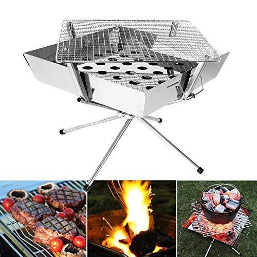 Outdoor grill, folding barbecue for home use, charcoal stove, fireplace grill