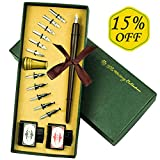 Calligraphy Pen,VIVI SKY Calligraphy Ink Pen, Wooden Dip Pen Kit,Antique Calligraphy Art Set for Beginners...
