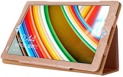 AKNICI Slim Folio Hülle Case Tasche, Kompatibel für Qimaoo T104 Tablet, ZONMAI 10, HMAI Tablet 10, Kivors 10,1 Zoll Tablet PC, Haehne 10,1 Zoll Tablet PC, JINYJIA 10.1 Zoll Tablet PC Etc - Gold