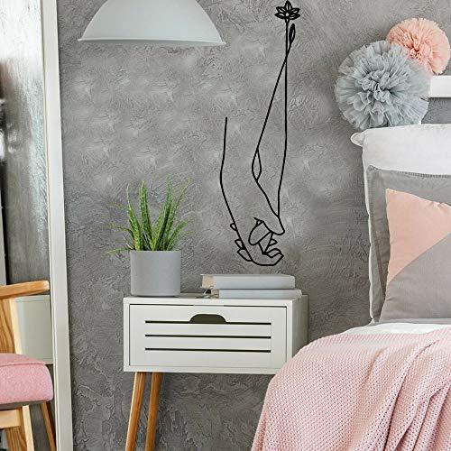 Jsnzff Hermosa Mano autoadhesiva de Vinilo Impermeable Etiqueta de la Pared para la habitación de los niños decoración del hogar extraíble calcomanía de Pared Decorativa 86x26 cm
