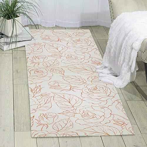 BedrmCarpet - Alfombra sin costuras rosas, 188 x 61 cm, alfombra para niños