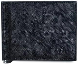 (プラダ)PRADA マネークリップ カードケース メンズ 財布 型押しレザー ブラック 2MN077 2EZZ VITELLO MOVE NERO [並行輸入品]
