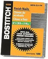 BOSTITCH SB16-2.5-1M 2-1 / 2インチx 16ゲージストレート仕上げネイル、1箱につき1000