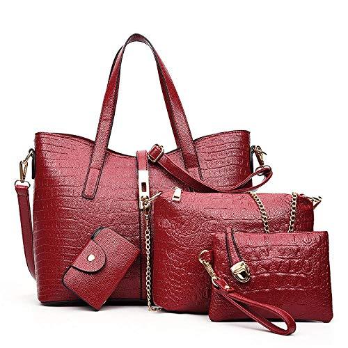 Diagonale tas met één schouder, damesmode handtas, waterdicht en slijtvast krokodillenpatroon, comfortabel en lichtgewicht vierdelig pak, geschikt om te winkelen.