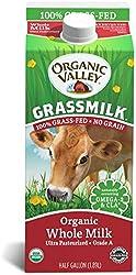 Organic Valley Grassmilk, 100% Grass Fed Whole Milk, Organic, 64 Fl Oz