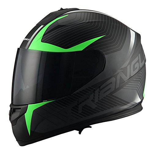 Aerodynamic Medium, Matte Black Comfortable Street Bike Motorcycle Helmet Unisex Adult DOT Approved Triangle Matte Black Full Face Lightweight /…