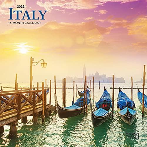Italy 2022 7 x 7 Inch Monthly Mini Wall Calendar, Scenic Travel Europe Italian Venice Rome