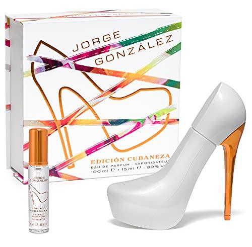 JORGE GONZÁLEZ by GLAMOUR & HEELS – EDICIÓN CUBANEZA 100 ml + 15 ml Set, Eau de Parfum, Damenduft,