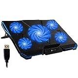 KLIM Cyclone - Base di Raffreddamento PC Portatile + Laptop Stand con 5 ventole + Il Migli...